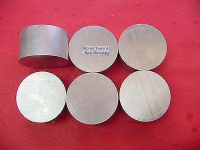 "6 Pieces 4"" ALUMINUM 6061 ROUND BAR ROD 1.5"" LONG T6511 Solid Lathe Bar Stock"