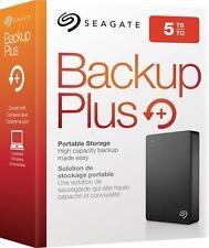 Seagate - Backup Plus 5TB External USB 3.0 Portable Hard Drive - black