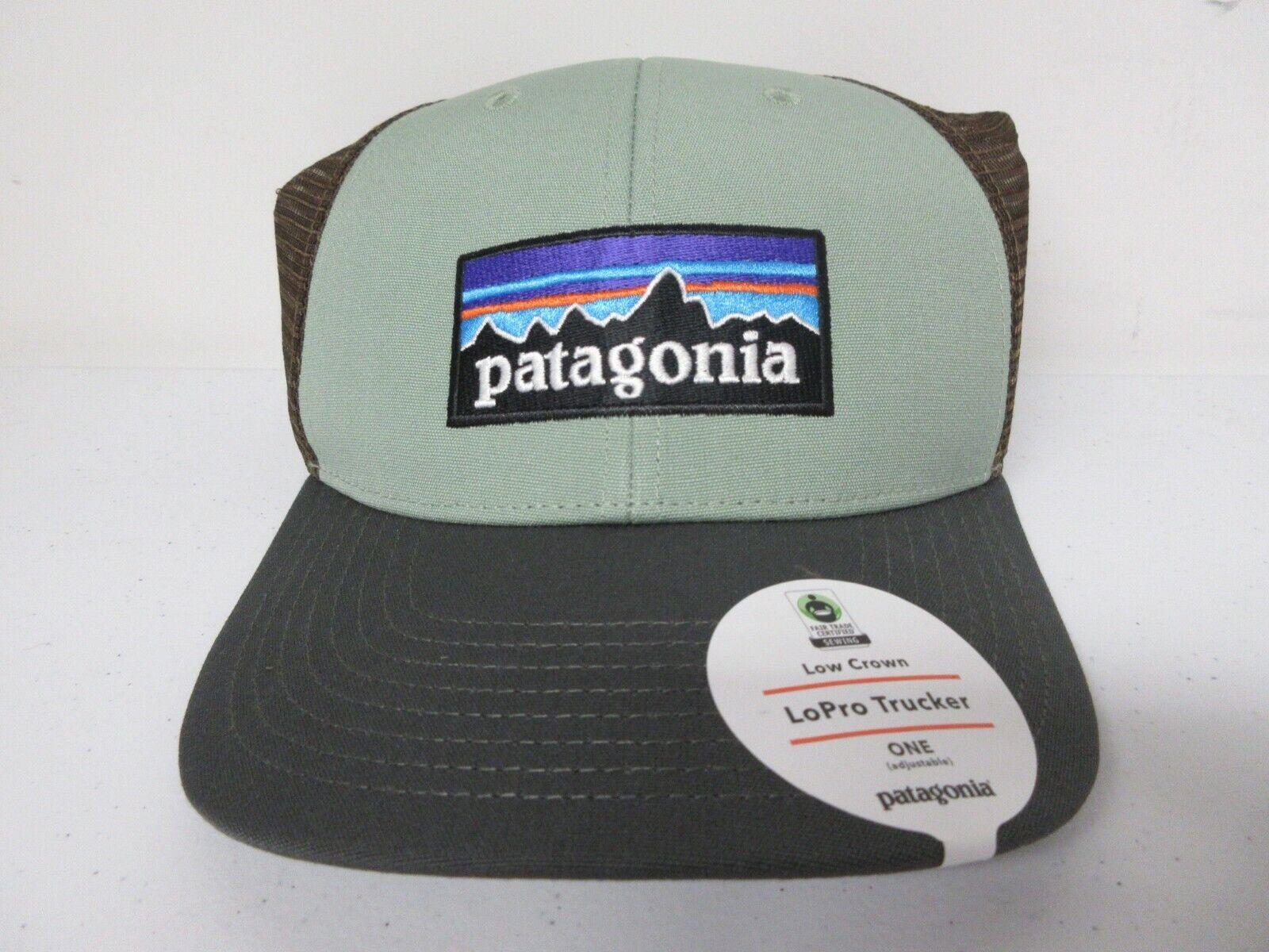 Brand New FREE SHIPPING CELADON Patagonia P-6 Logo LoPro Trucker Hat