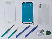Front Glass Screen Lens Replacement for Samsung Galaxy S3 Mini I8190 White+Tool