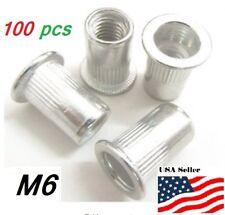 M6 6mm Flat Head Aluminum Rivet Nut Rivnut Insert Nut Pack Of 100
