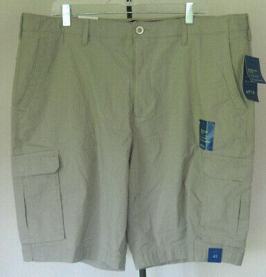 NWT MSRP $60 Mens Chaps Elastic Waist Zipper Fly Cotton Blend Cargo Shorts