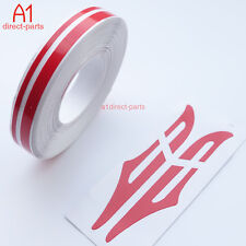 """RED 12mm 1/2"""" PIN STRIPE PinStriping Double TAPE Decal Vinyl Sticker CAR HOOD"""