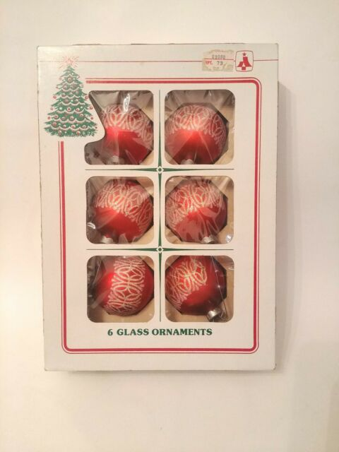Vintage Essex Franke Company Glass Christmas Ornaments (6 ...