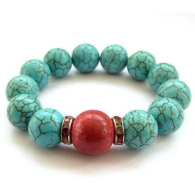 Howlite Turquoise Tibet Buddhist Prayer Beads Mala Bracelet