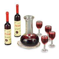 Dollhouse Miniature Wine Decanter Set