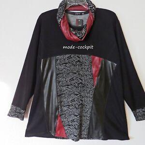 5577f33b873a Das Bild wird geladen NAVEED-Traum-Tunika-Long-Shirt -Loopschal-schwarz-Struktur-
