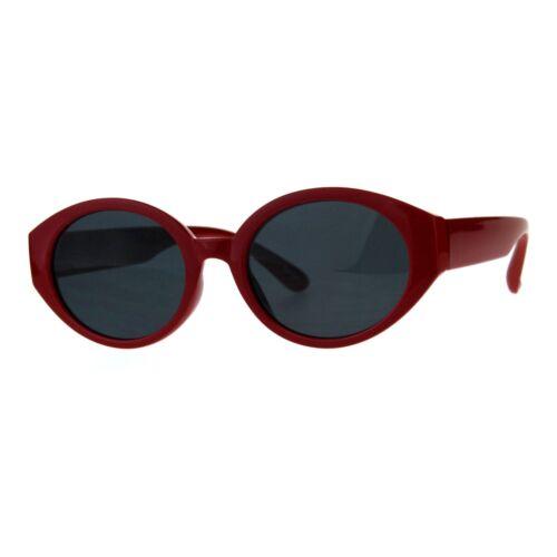 Womens Classic Fashion Sunglasses Oval Plastic Frame UV 400