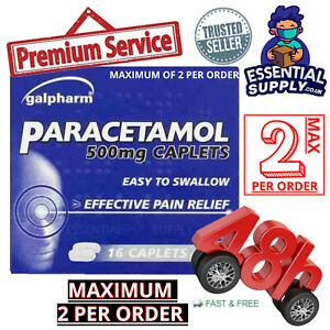 16-Paracetmol-Headache-Migraine-Back-Pain-Relief-Painkillers-500mg-Caplets