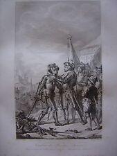 Grande gravure Combat de RENTY Henri II Maréchal de Turennes 13 août 1554