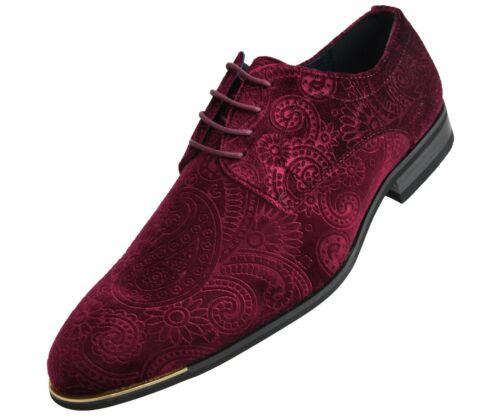 Style Chadwick Amali Mens Paisley Velvet Tuxedo Fashion Dress Shoe w// Metal Tip
