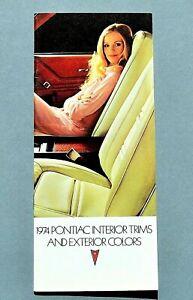 ORIGINAL-1974-PONTIAC-INTERIOR-TRIMS-amp-COLOR-CHARTS-28-PANELS-74PONCOLOR