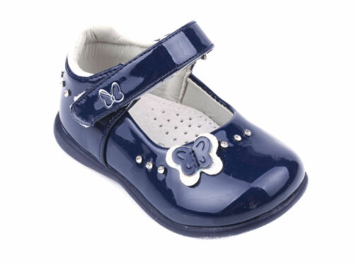 Toddler Girls Patent Shoes Pumps Leather Insole Occasion Party Sizes UK 3.5-7