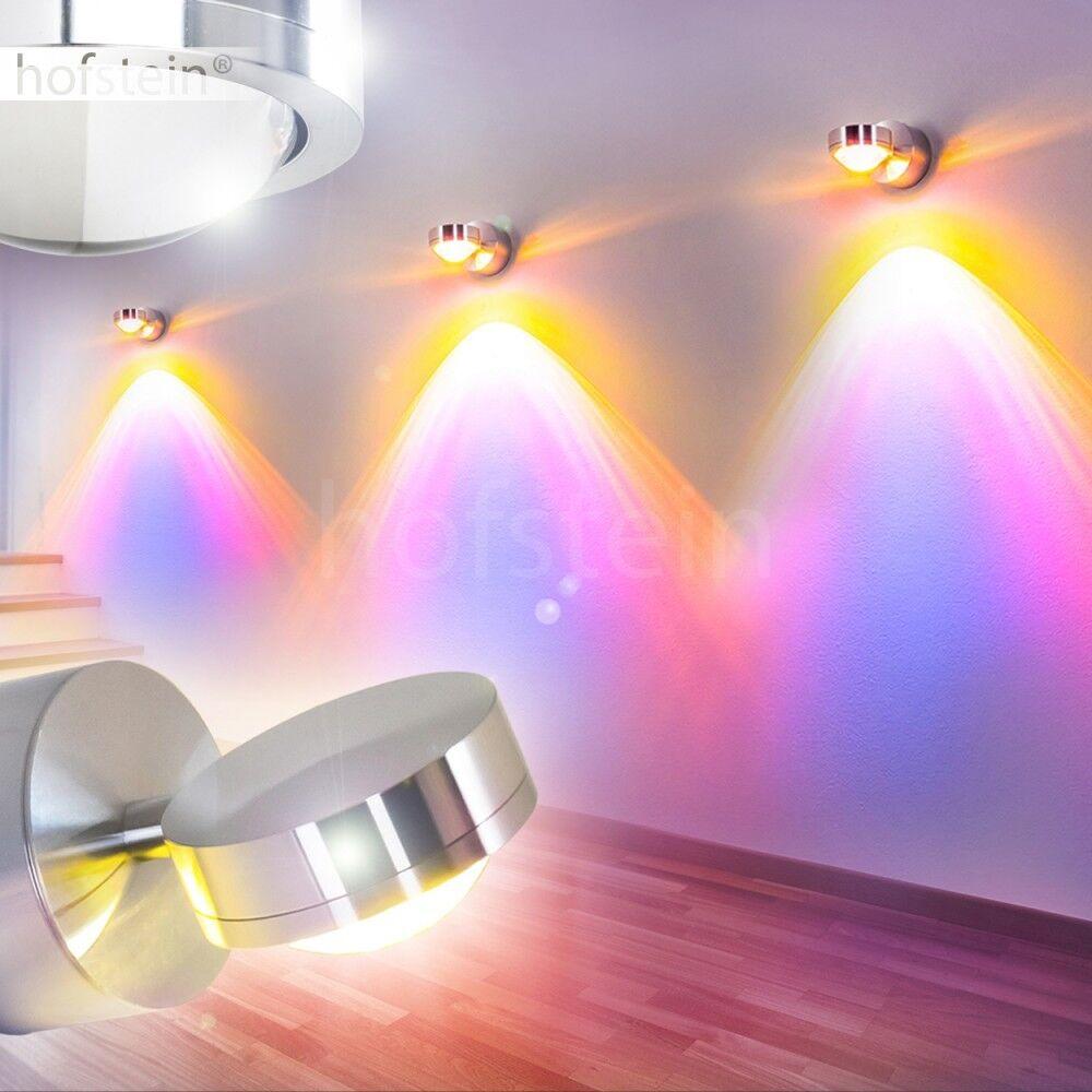 LED Design Wand Leuchte Strahler Lampe Farbfilter blau Flur Wohn Schlaf Zimmer