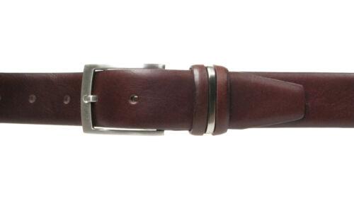 Vitali Qualité HOMME Cuir Italien ceinture costume pantalon 35 mm fabriqué en italie 3916