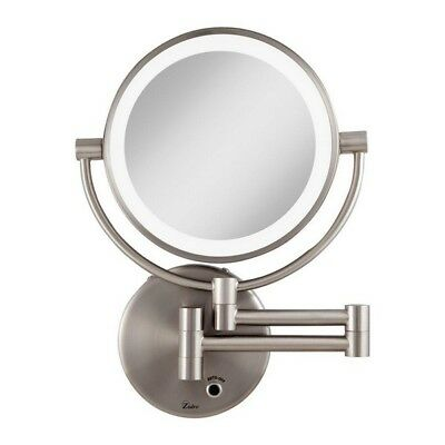 Bathroom Vanity Mirror Wall Mounted Led Light Satin Nickel