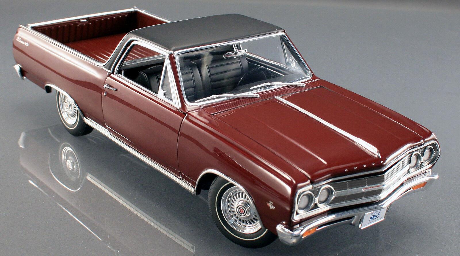 1965 Chevelle MAROON w vinyl top 1:18 Acme