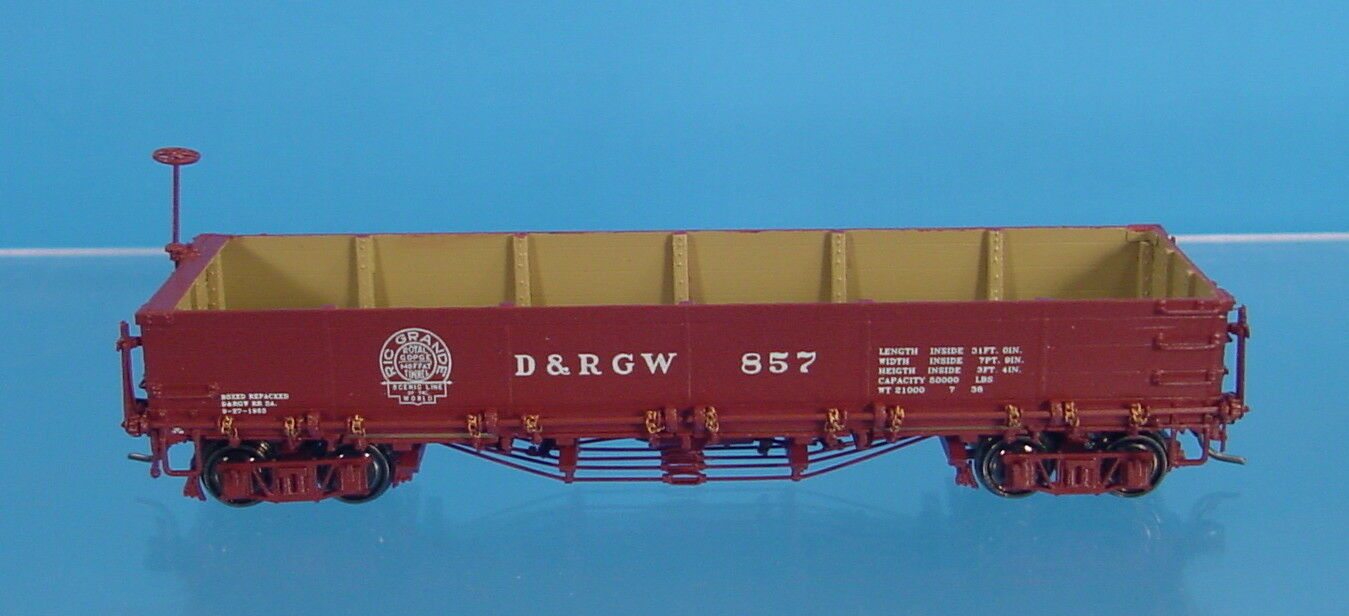 TG HOn3 BRASS DIVISION POINT D&RGW 800 SERIES DROP-BOTTOM GONDOLA  857