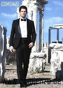 Obligatorisch Hochzeitsanzug Elegante Set 6-teilig Gr Herren - Besondere Anlässe 46 Anzug Schwarz Comienzo Hochwertige Materialien