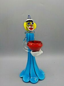 Unique-Mid-Century-Modern-Murano-Italy-Glass-Clown-Votive-Candle-Holder