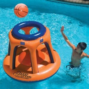 Details about Swimming Pool Games Toys Float Inflatable Basketball Hoop For  Kids And Adults