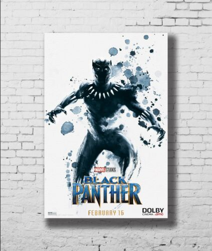 P-468 Art Black Panther Superhero Marvel 2018 New Movie Avengers Poster 24x36in