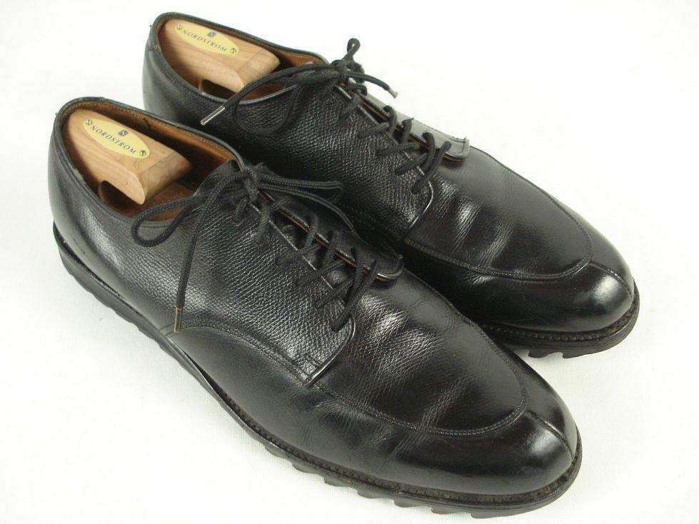 Vintage Martin Kramer by ALDEN Oxford Black Leather shoes sz 12 D Ripple Sole