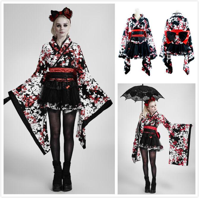 Punk Rave LQ-001 Pyon Pyon Vestido  Lolita Kimono Floral Dulce Maid  costo real