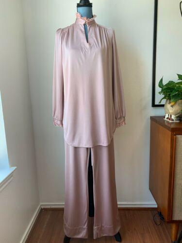 Vintage 1970's 1980's Women's Two 2 Piece Pantsuit