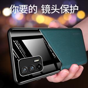Per Realme GT 5G, Lusso antiurto ibrido Magnetico Cover Custodia Pelle Acrilico