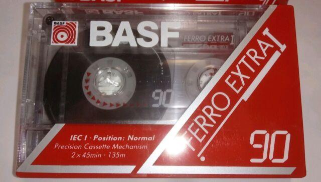 Blank Audio Cassette Tape BASF Ferro Extra I 90