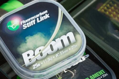 Carp Fishing Hooklink Korda Boom Fluorocarbon Stiff Link 25lb or 35lb