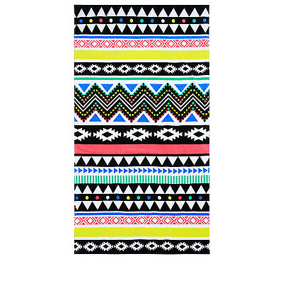 NEW Vue Utopia Beach Towel: Aztec Rug Blue