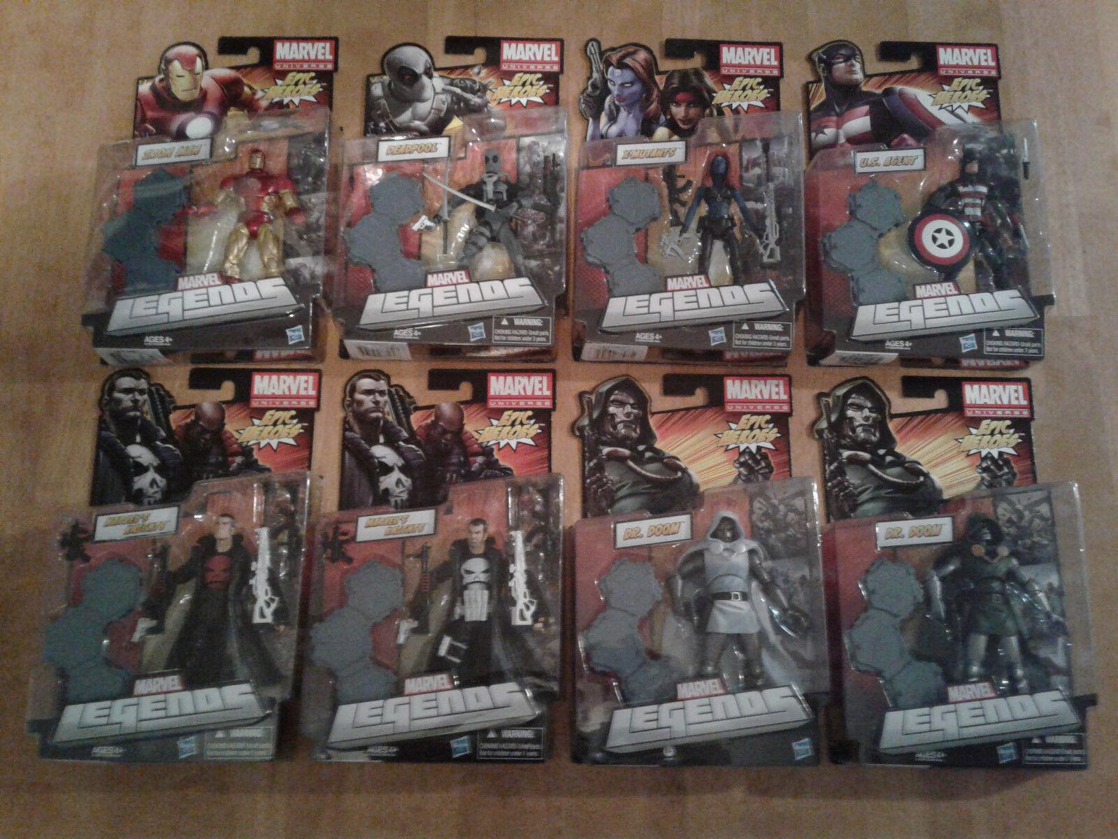 Marvel Legends NEW - EPIC HEROES set lot of 8 - FF DR DOOM RARE VARIANT DEADPOOL