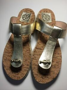 Tory-Burch-Miller-Leather-Sandals-in-Spark-Gold-Womens-Size-9