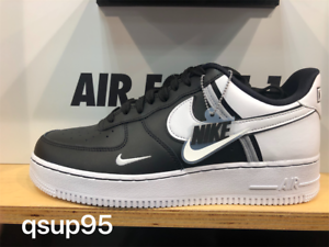 outlet store 83df1 e02d4 Details about Nike Air Force 1 One Low LV8 Black White Black Grey Jock Tag  CI0061001 Size 8-13