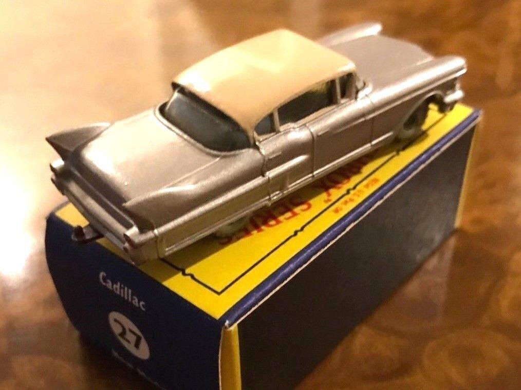 Vintage Matchbox   Mint + Box   2 Tone Cadillac   Day 1 Beauty   No. 27 Series I