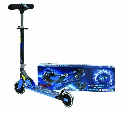 Official Zinc Nitro Attax Super Speed 2 Wheel Folding Scooter Brand New Gift