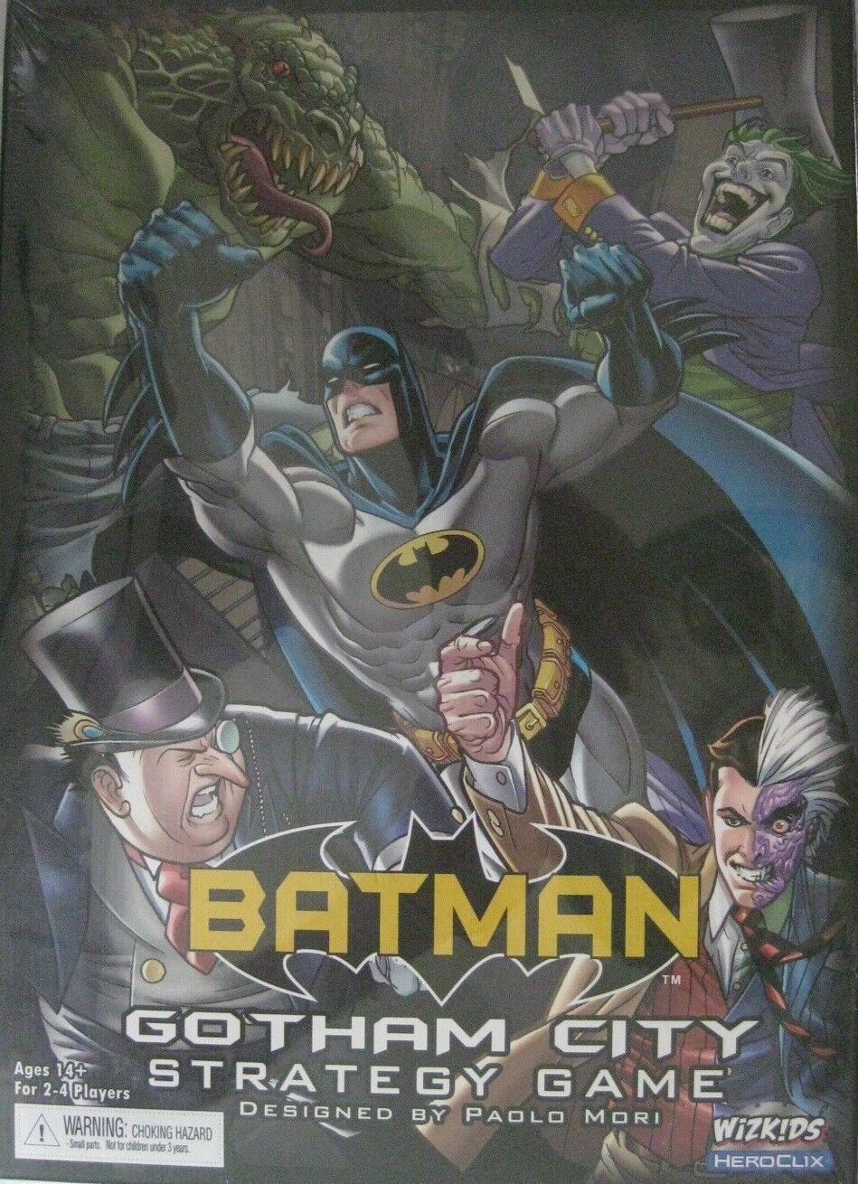 Batuomo Batuomo Batuomo Gotham città Strategy gioco Wizbambini HEROCLIX Joker Pinguin Cat donna nuovo 039bc3