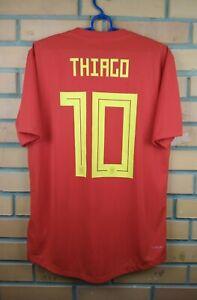 the latest 8c41d c62d4 Details about Thiago Spain authentic jersey 2018 climachill shirt BR2724  soccer Adidas