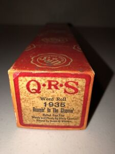 QRS-Player-Piano-Word-Roll-1935-Roamin-In-The-Gloamin-Scott-amp-Watters
