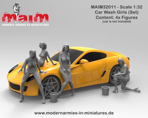 MAiM 1 32 Car Wash Girls (4 figures, 3D printed soft resin)