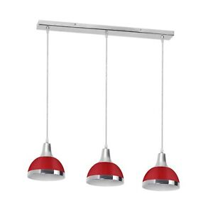 Jasper-3-Red-Shade-Chrome-Lights-Home-Kitchen-Bar-Lighting-Ceiling-Pendant-Light