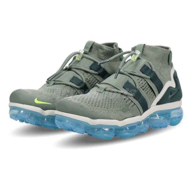 on sale d55b4 402bd Nike Air Vapormax FK Utility Flyknit Clay Green Blue Men Running Shoe  AH6834-300
