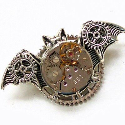 collar pin brooch bat