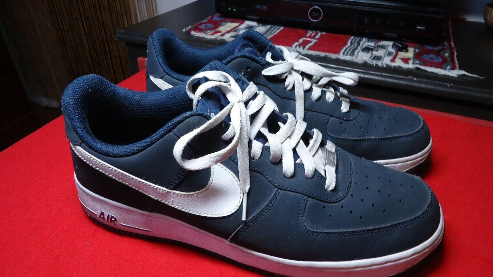 Nike  Air Force 1 Low Obsidian White 488298-421 Sz 13