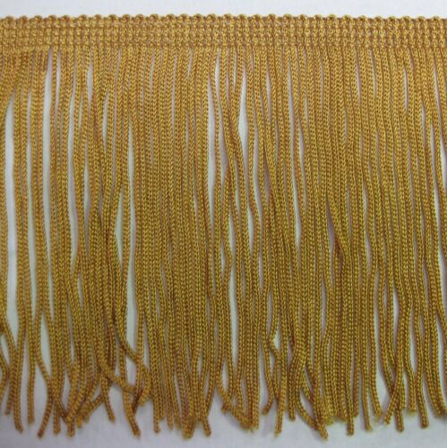 """6/"""" old gold chainette  Fringe Lampshade Costume Trim by the Yard,dance dress"""