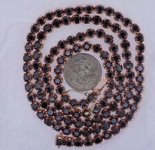 54 Carat Black Diamond 1 Row Chain Necklace for Men in 10k Rose Gold ASAAR