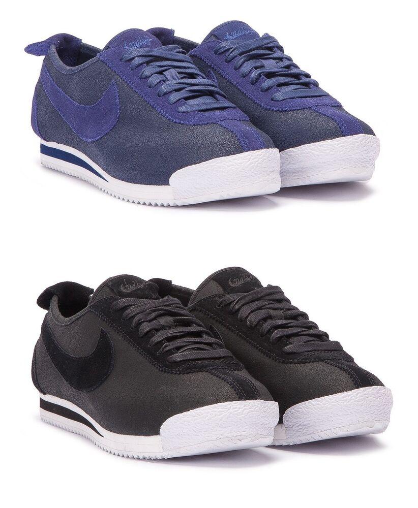 Nike Cortez 72 classic vintage en daim baskets bleu marine noir tailles uk 6-uk 12-