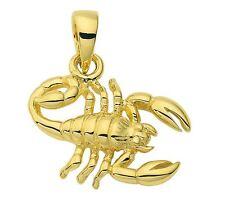 585 Gold - Gelbgold - Sternzeichenanhänger - Skorpion - Anhänger  Sternzeichen